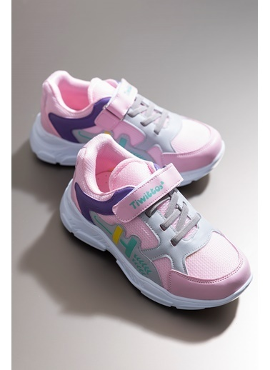 Tonny Black Pembe Lila Çocuk Spor Ayakkabı Tbz13 Pembe